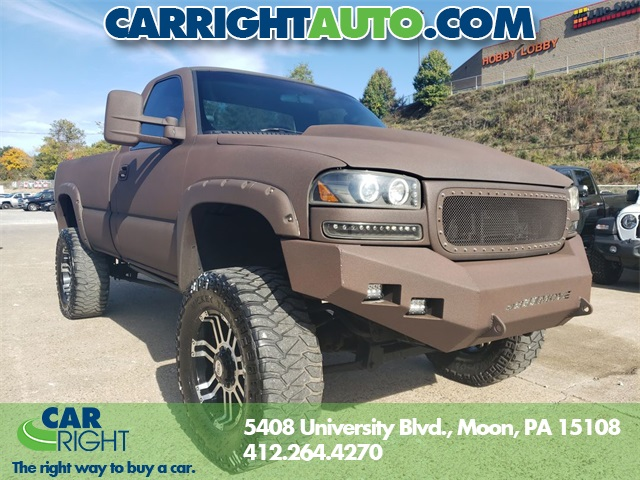 Lifted Gmc Sierra >> Pre Owned 2002 Gmc Sierra 2500hd Reg Cab Custom Lifted 4wd